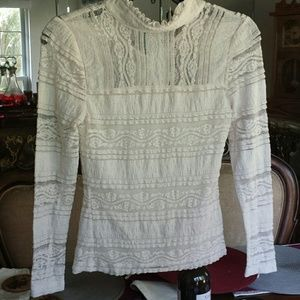 Women's bebe lace top sz xxs